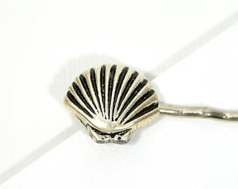 Silver Seashell Bobby Pin Beach Hair Pin Shell Hair Clip Beach Hair Accessory