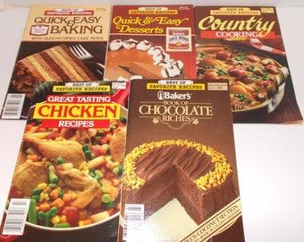 5-Best of Favorite Recipes Cookbooks 1985-1988