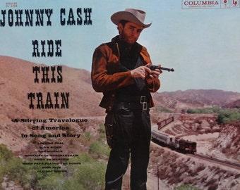 Johnny Cash - Ride This Train 1960 ( LP, Album, Vinyl Record ) Rock, Folk, World, Country - Music
