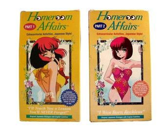 Vintage Homeroom Affairs Part 1 & 2 VHS Anime US Manga Movie Video Cartoon Japanese Hot Teacher