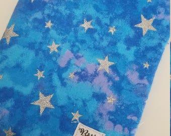 Glitter stars book sleeve
