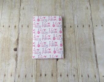 Flannel Receiving Blanket - Pink Flannel Swaddle Blanket - Baby Girl Gift - Newborn Baby Girl Shower Gift
