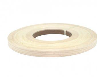 """White ash preglued Wood veneer edgebanding [1/2 """" to 3""""x250']"""