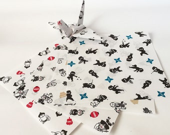 Origami Paper Sheets - Japanese Style - 48 sheets