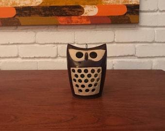 70's Style Modern Owl Lantern Candleholder Statue