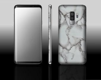 Samsung Galaxy S9 Plus White Marble Hyde Phone Skin Decal