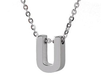 Personalized Handmade Necklace, Handmade Initial Necklace, Gift For Her, Silver Initial Necklace, Personalized Initial Necklace, Initial