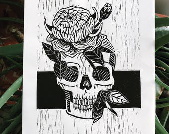 ARTIST PROOF: Peony Number 2 (9x12in.) Relief Print