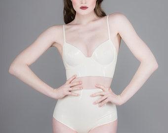 Verve High Waist Panty White - Chronomatic Luxury Latex Wear