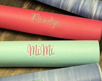 "Personalized Yoga Mat 1/4"" Thick Yoga Mat Super Sticky Yoga Mat"