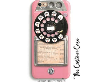 Retro Pink Payphone, Vintage Payphone Phone Case, Retro Pink Rotary Phone, Old Vintage Payphone, Hipster Payphone Case, Iphone, Samsung