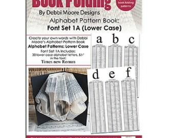 Debbi Moore Book Folding Pattern Book Alphabet Font Set 1A (Lower Case)