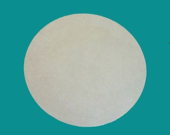"Round 4"" Unfinished Mdf Wooden Circle Mosaic Base Craft Shape Choose Your Thickness"