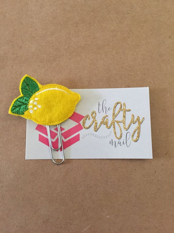 Lemon planner Clip/Planner Clip/Bookmark.