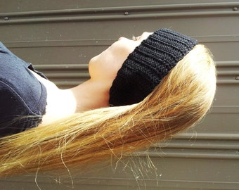Womens ear warmer - black headband -  women's hairband - gift for her - black winter head bandKeep that man cuddly too:Keep that