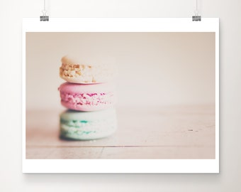 macaron photography, food photography, french decor, kitchen wall art, macaron print, Paris photography, pastel decor