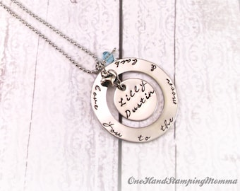 Hand Stamped Jewelry - Personalized Necklace - Personalized Mom Necklace - Hand Stamped Necklace - Hand Stamped Mom Necklace