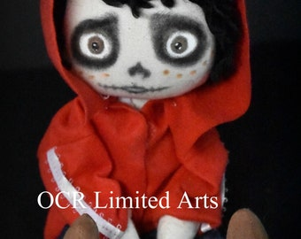 On Sale Handmade MIGUEL inspired by COCO Day of the Dead Art doll Primitive folk art cute Gift OOAK  Collectible Skull