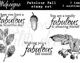 Fabulously Fall Digital Stamp Set