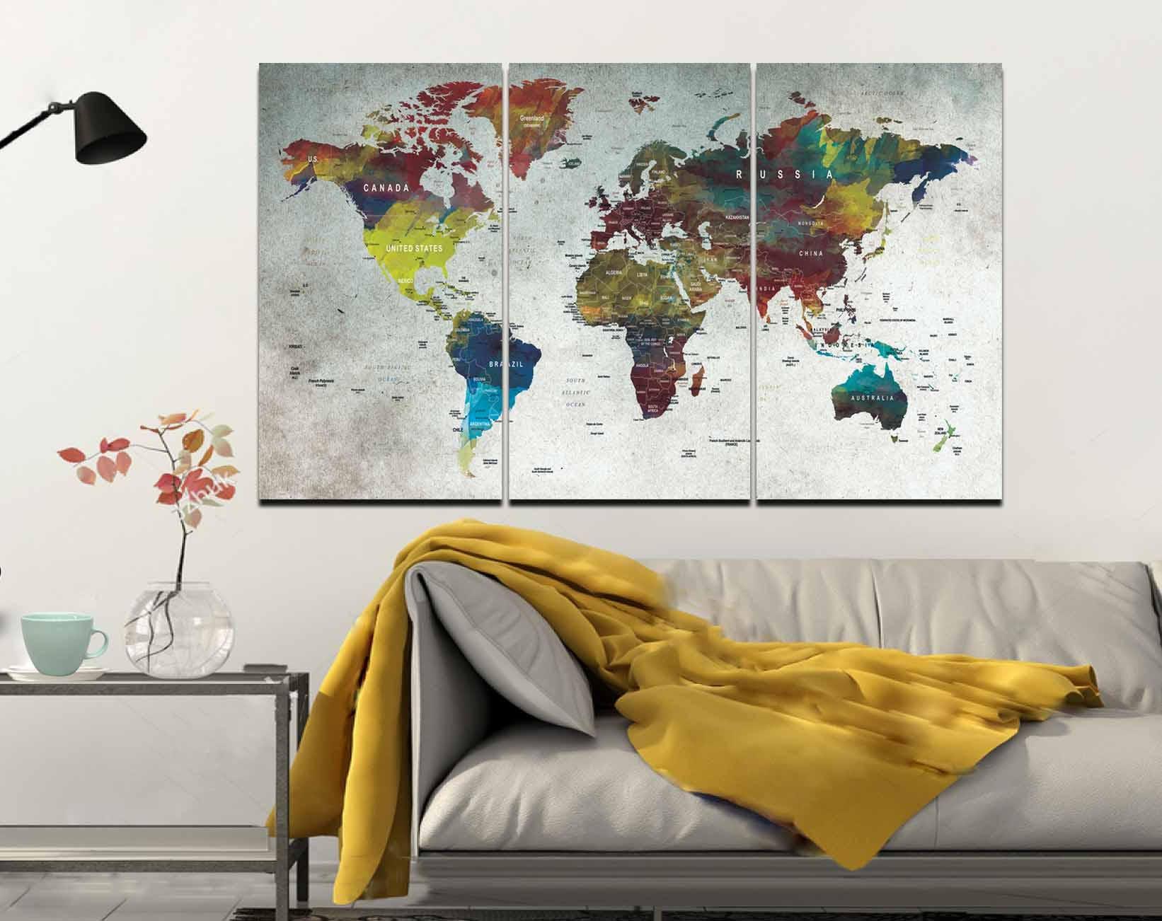 World mapmapwall artlarge world mappush pin mapabstract world world mapmapwall artlarge world mappush pin mapabstract world mappush pin map canvasdecorative canvas artworld travel mapmap canvas gumiabroncs Images