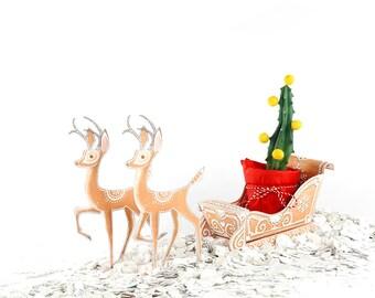 printable christmas gift box/ downloadable / christmas gift box/ illustrated