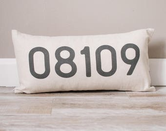 Personalized Zip Code Pillow | Personalized Pillow | Dorm Decor | Monogrammed Gift | Rustic Home Decor | Home Decor | Farmhouse Decor