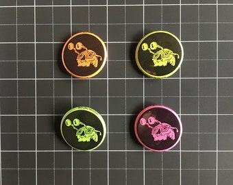 Fluorescent Pinback Button Set (set of 4)
