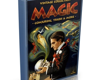 Magic Tricks & Conjuring - 96 Vintage Books on DVD - Illusions Magician Cards Coin