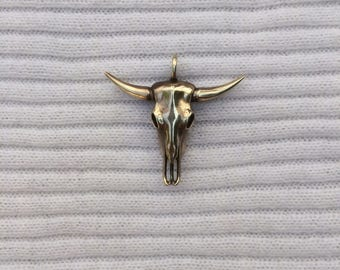 Bull skull pendant jewelry.