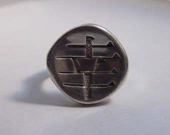 Beautiful heavy sterling silver joy ring size 8