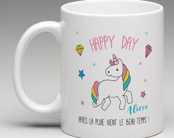 Personalised Unicorn gift mug