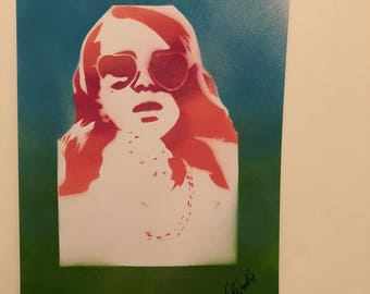 Lana Del Rey Original Graffiti Stencil Art