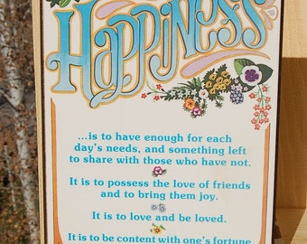 Happiness Plaque Abbey Press Christian Religious
