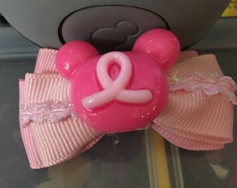Breast Cancer Awareness Magic Band Bow