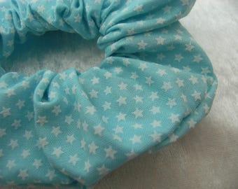 Star blue hair scrunchie