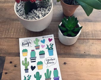 Cactus Sticker Sheet | Cacti Stickers | Suculents Stickers