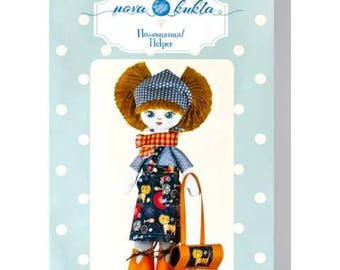 "Doll Making Kit, Set for sewing doll, Textile doll ""Helpmate"", Set for textile doll, Handmade doll, Sewing kit"