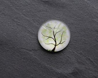 """Cabochon 20 mm glass """"tree of life"""""""