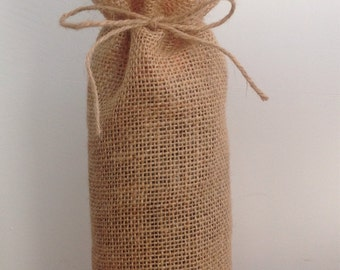 5 x Hessian / Burlap Wine Bags