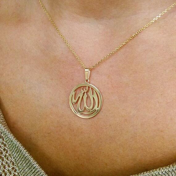Allah necklace allah pendant religious necklace religious allah necklace allah pendant religious necklace religious pendant 14k gold allah necklace18k gold allah pendant made in usa aloadofball Gallery