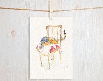 Favorite Chair Art Postcard