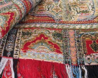 1880's antique Kashmir Shawl. Museum quality piano shawl.