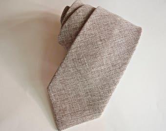 burlap neckties,burlap necktie nutmeg,burlap texture neckties, taupe burlap necktie,rustic weddings,vintage,burlap taupe