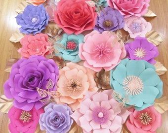 Large Paper Flower Backdrop-*******Custom 5ft tall by 4ft wide *******