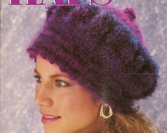 Hats in a Hurry Crochet Pattern Booklet from Annie's Attic 9 Hat Patterns to Crochet Seldom Found OOP Leaflet 1992