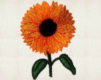 Blooming Sunflower Machine Embroidery Design