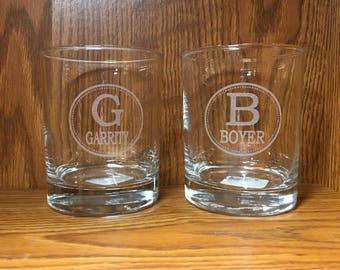 Custom Laser Engraved Whiskey Glasses