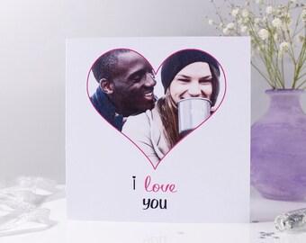 Photo Anniversary Card - Personalised anniversary Card - Photo Card - Love You Card - Paper Anniversary - Wedding Photo Card