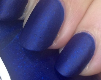Time & Relative Dimension In Space Nail Polish - incredible matte blue!