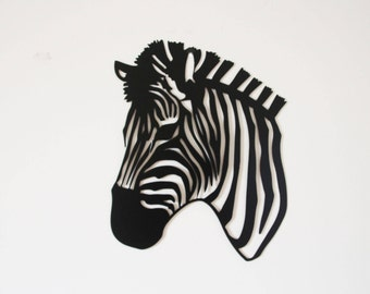 Elegant Zebra Wall Hanging Metal Art   Black And White Home Decor Wall Art